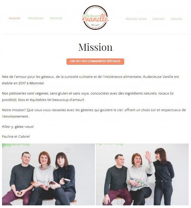 geneviève fournier design av équipe conception de sites web sur mesure et image de marque custom web design and branding